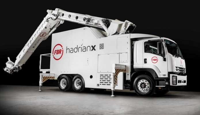 FBR hadrian x робот укладчик, строительные технологии