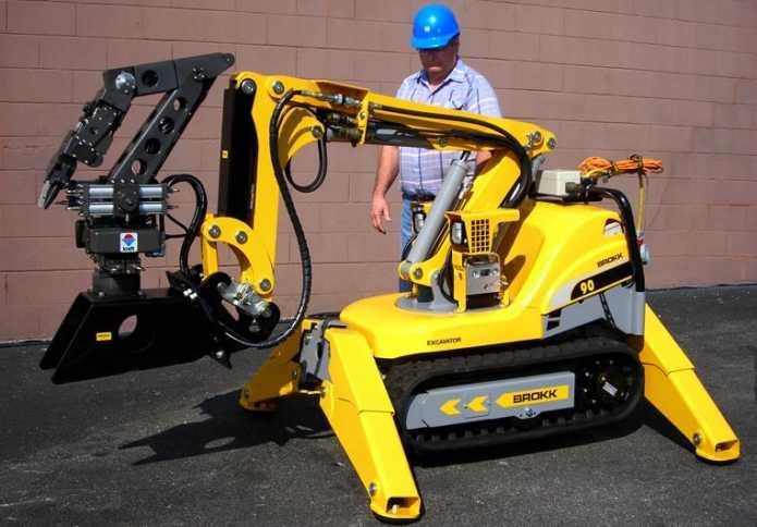 brokk 90 демонтажная машина, строительные технологии