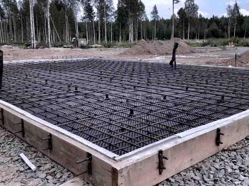 Монолитный фундамент - плита: технология возведения