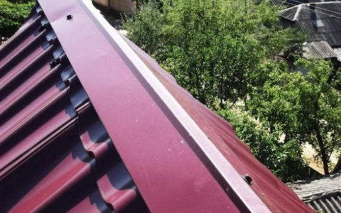 крыша с коньком